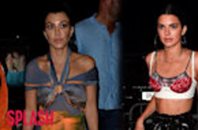 Kourtney Kardashian and Kendall Jenner Get Fancy in France