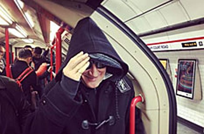 Which star travelled to his own gig at the O2 by tube?