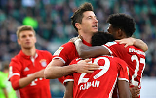 Bayern players celebrate Bundesliga success
