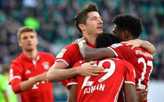 Bayern players celebrate Bundesliga success