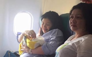 Baby born mid-flight gets free rides for life