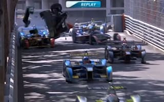 Video: Monaco Formula E race sees Bruno Senna take to the air