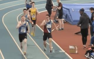 Runner Denied Victory by Flying Elastic Strip in Freak Accident
