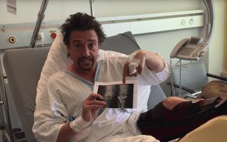 Grand Tour star Richard Hammond praises medics from hospital bed following Switzerland crash