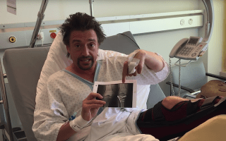 Grand Tour star Richard Hammond praises medics from hospital bed following Switzerland crash