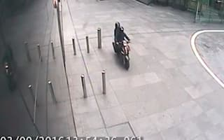 Helicopter footage captures mobile phone thief escaping