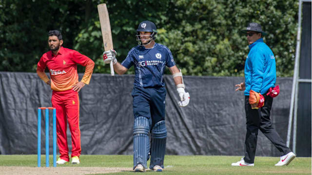 Scotland earn historic win over Zimbabwe after Kyle Coetzer century