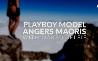 Naked Playboy model infuriates Maoris with selfie