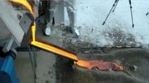 Forscher kochen frische Lava für Experimente