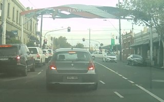 Cyclist flipped on to car roof after crash