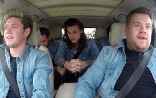 One Direction join James Corden in carpool video