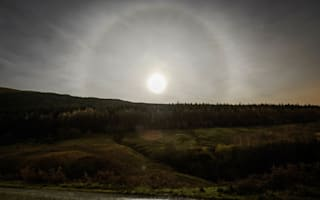 Moon ring pictured over Scotland (pictures)