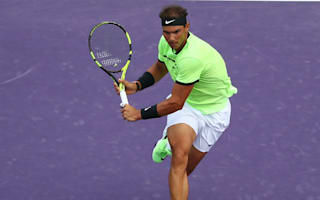 Nadal celebrates 1,000th match with hard-fought win in Miami