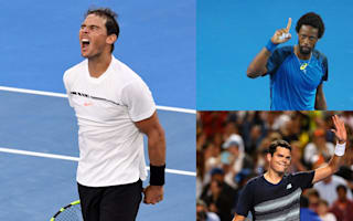 Nadal digs in against Zverev, Monfils and Raonic advance
