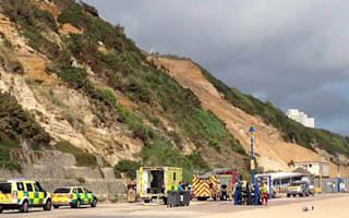 Walker miraculously survives 100ft fall down Bournemouth cliff