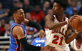 Thunder cruise past Bulls, Rose misses Knicks' loss
