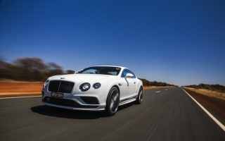 Bentley reaches top speed in Australian outback