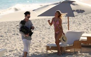Kimberley Garner does stripy bikini on Caribbean holiday - Pictures
