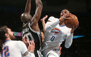 Westbrook sees Thunder past Spurs, Cavs lose again