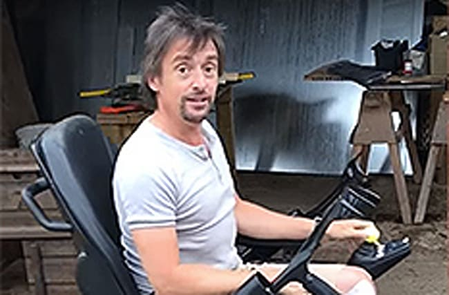 Injured Richard Hammond shows off his new wheels