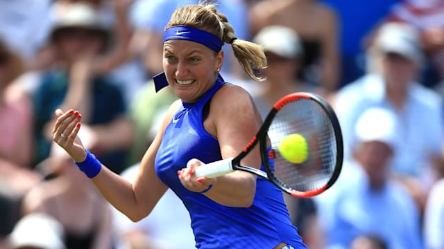 Kvitova into Birmingham quarters after straight sets win