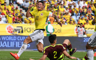 Colombia 2 Venezuela 0: Bacca and James miss penalties against nine-man visitors