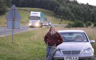 Well-known man camping on A9 is moved along by police