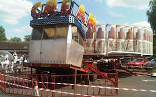 Schoolboy in hospital after fairground ride collapses