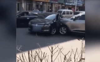 SUV driver rams VW after heated road rage incident
