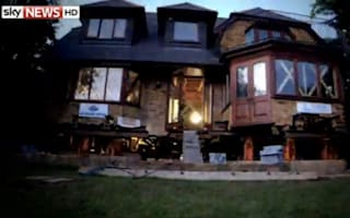 80-ton house raised on stilts to escape flooding