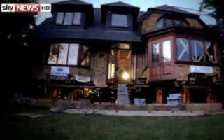 80-ton house raised on stilts to escape flooding