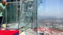 Himmels-Rutsche: Glasröhre 300 Meter über Grund