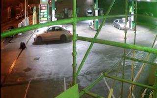 Watch the frightening moment a pedestrian is mowed down by a speeding Mercedes