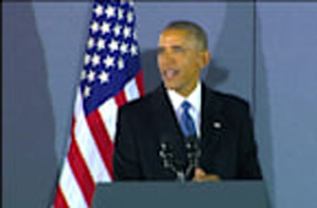 """Obama says he will """"continue journey"""", as he leaves office"""
