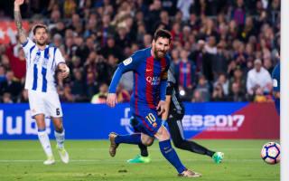 Barcelona 3 Real Sociedad 2: Messi shines to keep pressure on Madrid