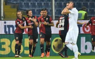 Genoa 3 AC Milan 0: Unbeaten run comes crashing to an end as Paletta sees red