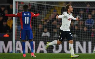 Crystal Palace 0 Tottenham 1: Eriksen ensures Spurs remain in title hunt