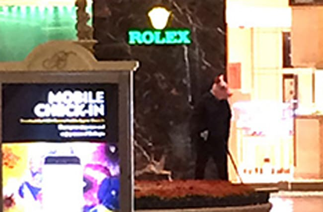 Armed robbers storm Rolex store at Bellagio Hotel in Las Vegas