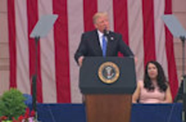 """Trump honors fallen soldiers as """"the noblest among us"""""""