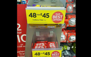 Shoppers mock ridiculous chocolate bar deals at WHSmith