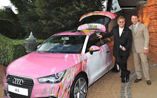 Audi donates Damian Hirst art car to Sir Elton John's charity ball