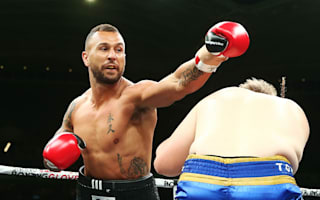 Rugby star Quade Cooper wins third professional fight with brutal stoppage