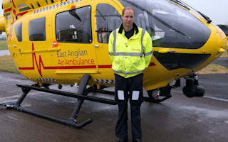 William to quit job as air ambulance helicopter pilot