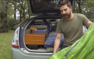 Man chooses to leave troubles behind and live in Prius