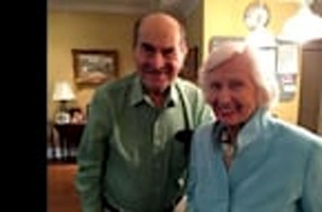 Dr. Heimlich saves choking woman with his own maneuver