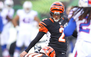 Giants win, Bengals beaten as kickers struggle