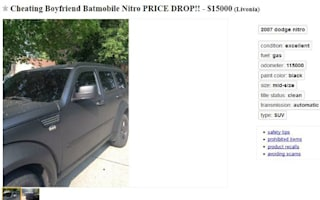 Woman sells cheating boyfriend's 'Batmobile' in revenge
