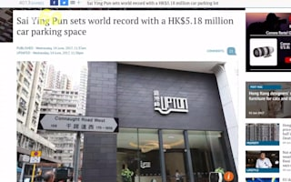Parking space in Hong Kong sold for over £500k