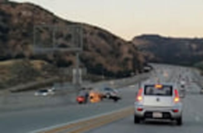 Road rage sparks crash chaos on LA freeway: video