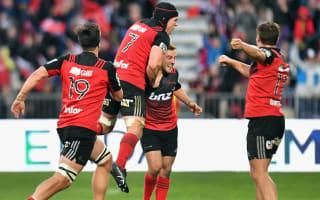 Remarkable injury-time Hunt drop-goal keeps Crusaders rolling on